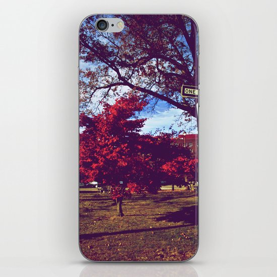 Fall My Way | Red iPhone & iPod Skin