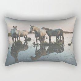 Camargue Horse II Rectangular Pillow