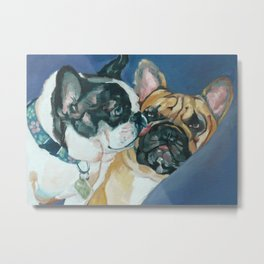 Fanci-Pants and Louie French Bulldogs Metal Print