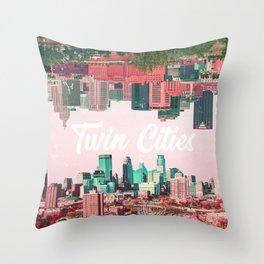 Twin Cities Minneapolis and Saint Paul Minnesota Collage Throw Pillow