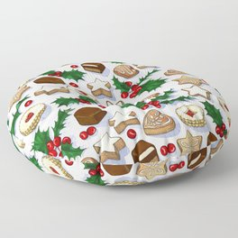 Christmas Treats and Cookies Floor Pillow