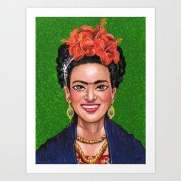 Smile Frida Art Print