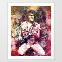neil young Art Prints featuring Neil Young Original Painting Print by RockChromatic