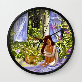 Relaxing moment Wall Clock