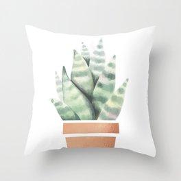 A little cactus Throw Pillow