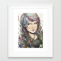 agnes Framed Art Prints featuring Agnes by Chen-Long Chung