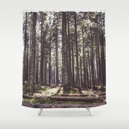 the sound of the forest Shower Curtain