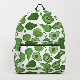Green fruits and vegetables Backpack