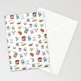 Happy Baker Pattern Stationery Cards