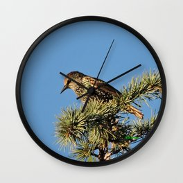 O My Starling, Clementine! Wall Clock