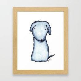 Puppy Blue Framed Art Print