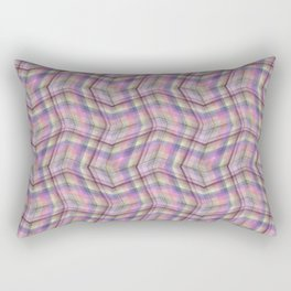 Overlapping lines in pink. Rectangular Pillow