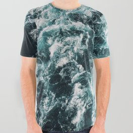 Green Seas, Yes Please All Over Graphic Tee