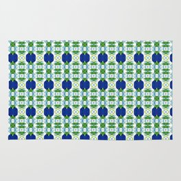 Blue Sapphires - this design goes well with Blue and Green Calm Rug