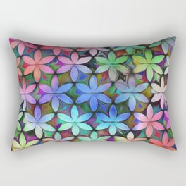 Tropical Rainbow Daisies Rectangular Pillow