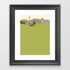 Frank's Cafe Framed Art Print