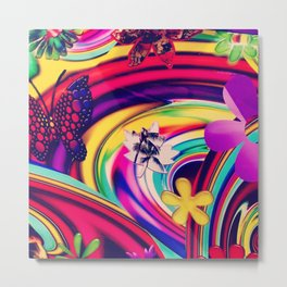 Tropical Swirl Metal Print