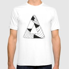 Personal Stormer Triangle Mens Fitted Tee LARGE White