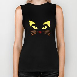 Black Cat at Night Biker Tank