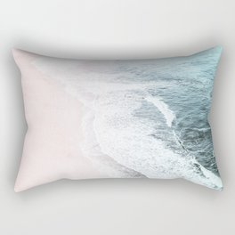 Vintage Faded ocean waves Rectangular Pillow