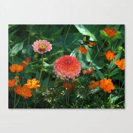 Flowers in Juicy Citrus Colors Canvas Print