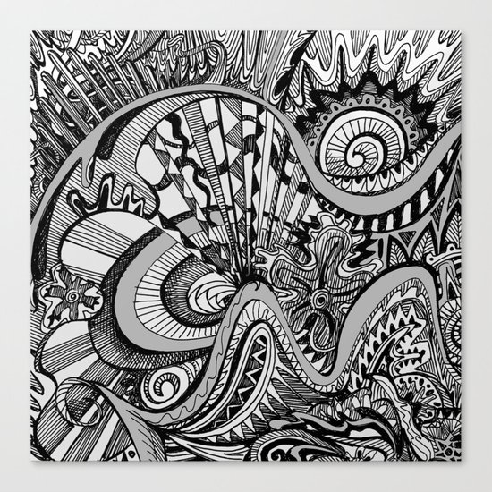 White Knuckled Scream Canvas Print