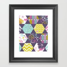Garden Party Festive Hexi Framed Art Print