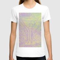 martini T-shirts featuring purple martini by Kim Codner Designs