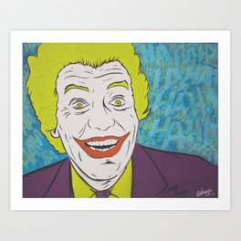 Vintage Joker Spray Painting Art Print