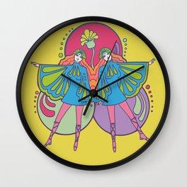 Butterfly Gemini Wall Clock