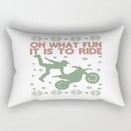 Dirtbike Christmas Rectangular Pillow