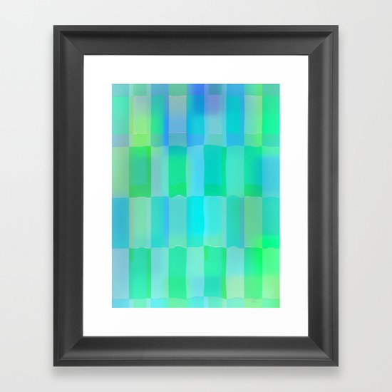 Aqua Pattern Framed Art Print