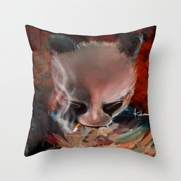 Bearly Legal Throw Pillow