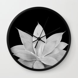 Gray Agave on Black #2 #tropical #decor #art #society6 Wall Clock