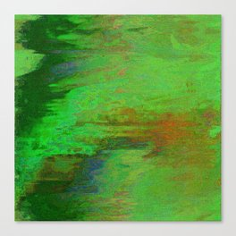 07-030-14 (City Reflection Glitch) Canvas Print
