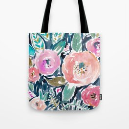 GARDENS OF CAPITOLA Watercolor Floral Tote Bag