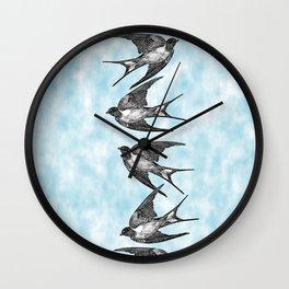 bird stripe Wall Clock