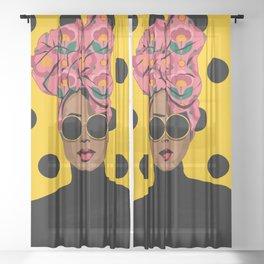 Black Beauty Sheer Curtain