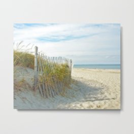 Sandy Beach, Ocean, and Dunes Metal Print