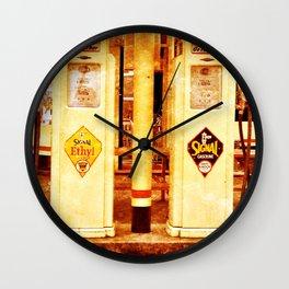 Vintage Gas Pumps :) Wall Clock