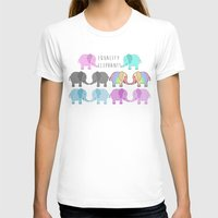 equality T-shirts featuring Equality Elephants by Jessica Latham