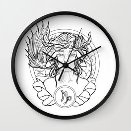 Zodiac Series   Capricorn Wall Clock