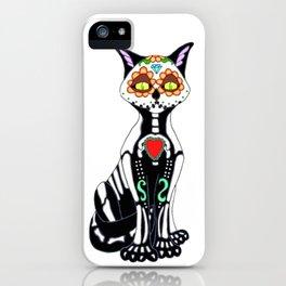 Sugar Skull Kitty Cat iPhone Case