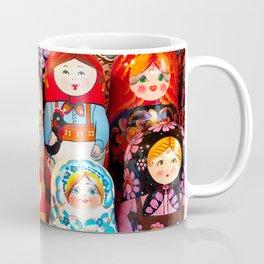 Culture. Group of matrioska, or babushka, symbol of maternity from Russia. Coffee Mug