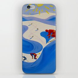 Vintage Winter Sports in France Travel iPhone Skin