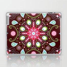 Pointillism mandala | Brown, red and green Laptop & iPad Skin
