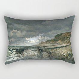 La Pointe de la Hève at Low Tide by Claude Monet Rectangular Pillow