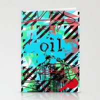 oil Stationery Cards featuring Oil by Zoé Rikardo