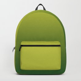 Gradient olive and green. Backpack