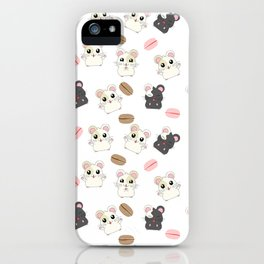 Hamsters and Macarons iPhone Case